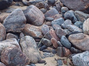 Stones on the beach at Carloway